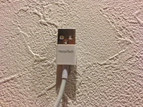 激安LightningUSBケーブル-USB側