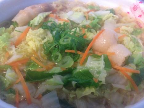 浪速の味!白菜たっぷりラーメン(調理後)