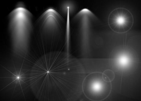 後光-スポットライト-素材