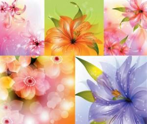 生花-無料ベクター素材7