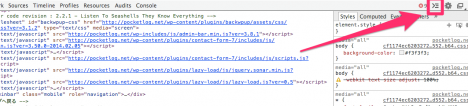 Chromeでスマホ表示-コンソール表示