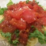 暑い日はセブンイレブンのつめたーいトマトの冷製パスタ
