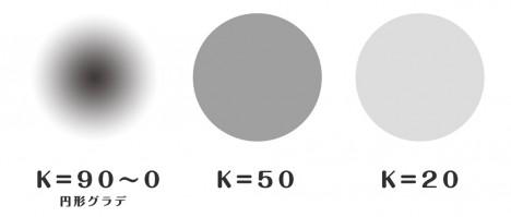 白黒ハーフトーンの作り方1