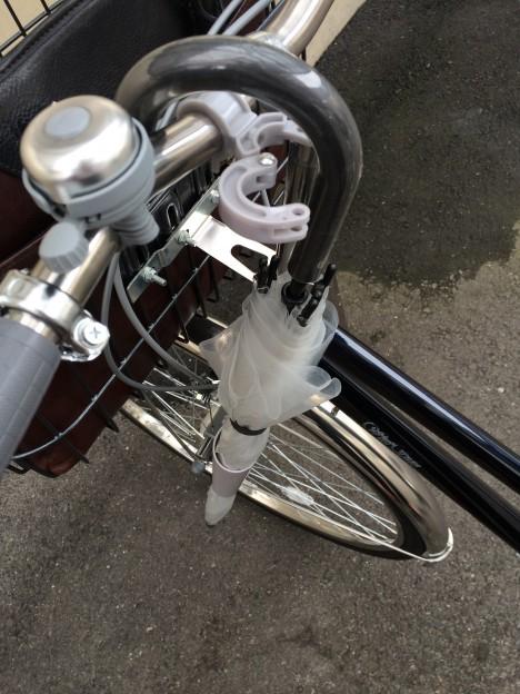通勤用自転車-傘